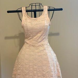 Wet seal light pink lace dress